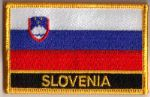 Slovenia Embroidered Flag Patch, style 09.